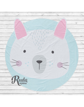 Rabbit - Baby mat panel , Cotton Panel